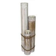 Xlarge Bamboo Candles - Whitewash