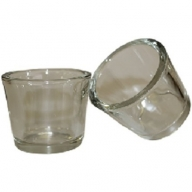 Clear - Votive Candle Holder - Chunky Round