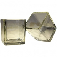 Clear - Votive Candle Holder - Lrg Square Glass