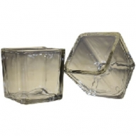 Clear - Votive Candle Holder - Small Square Glass