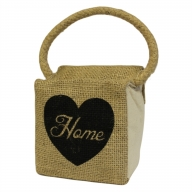 Sm Sq Cotton & Jute Door Stop - Heart Home