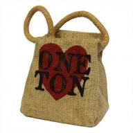 Sm Jute Ton Shape Door Stop - Heart ONE TON