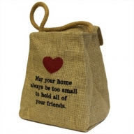 Lrg Jute Ton Shape Door Stop - May Your Home