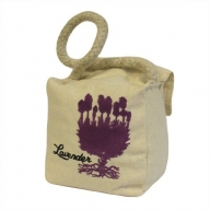 Small Sq Cotton Door Stop - Lavender