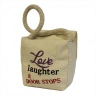 Small Sq Cotton Door Stop - Love, Laughter & DS