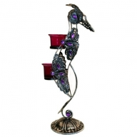 Moorish Bird Twin Candle Holder