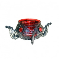 Moorish Single Pot Red Candle Holder