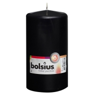 Bolsius Church Candle - Pillar - 150 x 80mm - Black