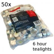 50x Tealights - 6 hour