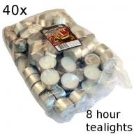 40x Tealights - 8 hour