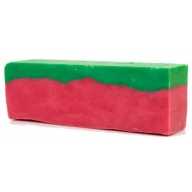 Watermelon Olive Oil Artisan Soap Slice