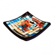 Mosaic Soap Dish - Blue&Red