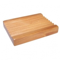 Hemu Wood Soap Dish - Groovy