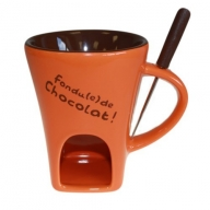 Chocolate Fondue Set - Orange