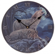 Lisa Parker Wolf Picture Clock