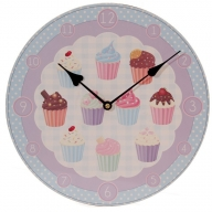 Lauren Billingham Cute Cupcake Picture Clock