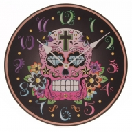 Day of the Dead Black Picture Clock