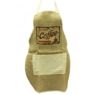 Soft Jute Apron - COFFEE