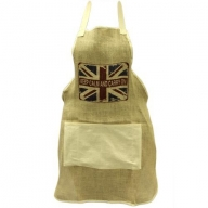 Soft Jute Apron - KEEP CALM