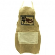 Soft Jute Apron - BBQ TIME