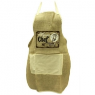 Soft Jute Apron - MASTER CHEF @ WORK