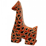 Leather Money Box - Lrg Yellow Giraffe