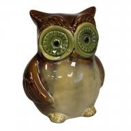Ceramic Owl Bank - Brown