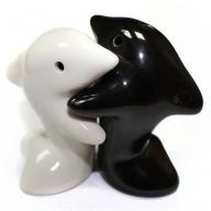 Salt & Pepper - Hugging Dolphins B&W