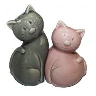 Salt & Pepper - Cats - Pink and Grey