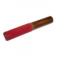 Wooden Singing Bowl Stick with red velvet detail- Approx 19cm