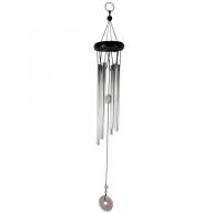 Gem Windchime - Rose Quartz - Holed Donut
