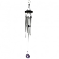 Gem Windchime - Amethyst - Holed Donut