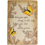 Wise Word Plaque Sml - Love You Give