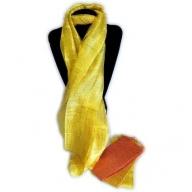6x Silk Scarves - Rich Golden Colours
