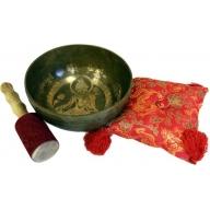 Brass Golden Tara - Special Singing Bowl Set