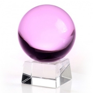 80mm Pink Crystal Ball On Stand