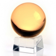 80mm Yellow Crystal Ball On Stand