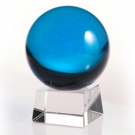 80mm Light Blue Crystal Ball On Stand