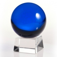 80mm Dark Blue Crystal Ball On Stand