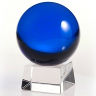60mm Dark Blue Crystal Ball On Stand