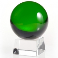 60mm Green Crystal Ball On Stand