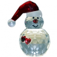 Crystal Snowman with Hearts