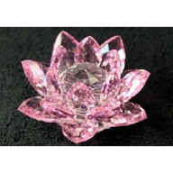 Crystal Lotus 100mm - Pink