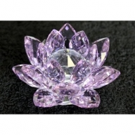 Crystal Lotus 100mm - Purple