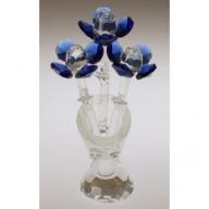Crystal Flower in Crystal Vase (Blue)
