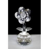 Single Crystal Flower on Crystal (Clear)
