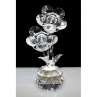 Two Crystal Flowers on Crystal (Clear)