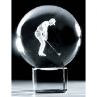 Crystal Ball & Stand 50mm - Golf 2