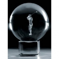 Crystal Ball & Stand 50mm - Golf 3