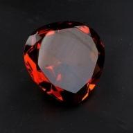 Plain Amber Heart
